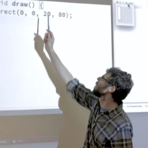 andrew pointing at code